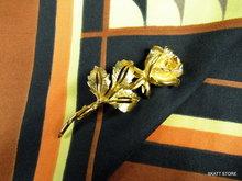 Nina Ricci broche roos vintage